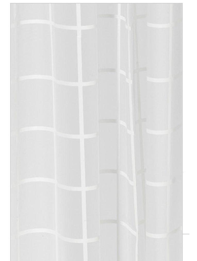 IKEA GRA NSKA Gronska SHOWER Curtain WHITE Tone On GRID Lines PEVA Modern