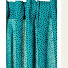 IKEA NÄTVIDE Natvide CURTAINS Drapes 2 Panels Turquoise Black POLKA DOT
