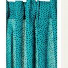 IKEA NÄTVIDE Natvide CURTAINS Drapes 2 Panels Turquoise Black POLKA DOT