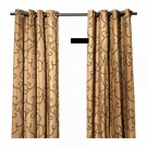 IKEA NÄTVIDE Natvide CURTAINS Drapes 2 Panels BROWN Black LIMITED EDITION