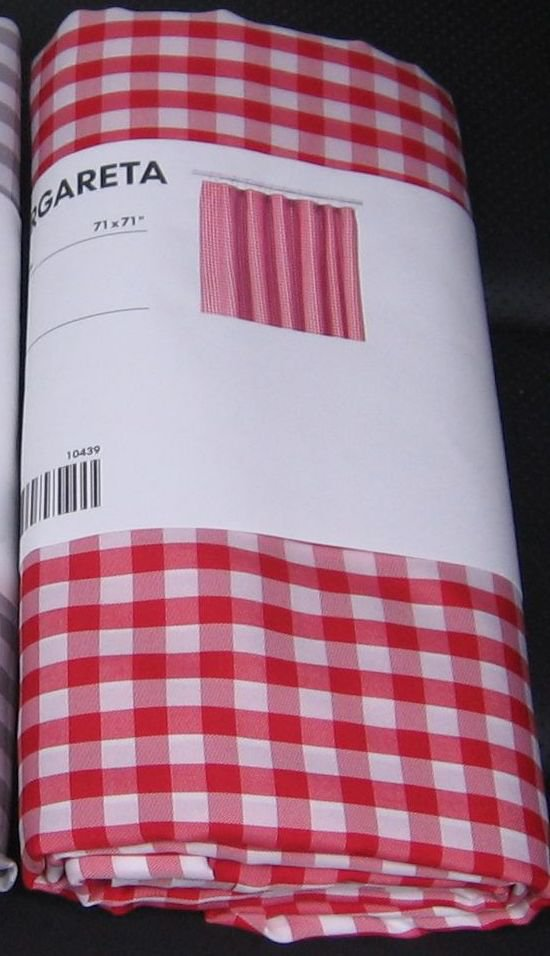 Ikea Yellow And White Striped Fabric ~ IKEA MARGARETA Fabric SHOWER Curtain RED White CHECKED Gingham XMAS
