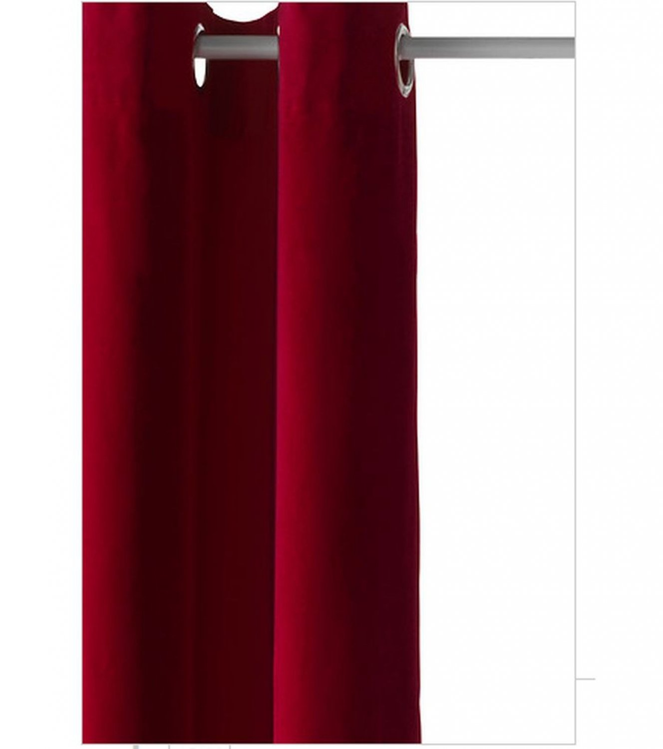 ikea sanela curtains drapes 2 panels red velvet 98 grommets. Black Bedroom Furniture Sets. Home Design Ideas