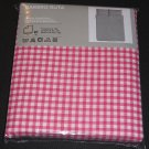 IKEA Barbro Ruta QUEEN Full Duvet COVER Pillowcases Set PINK Checked Gingham Spring