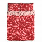 IKEA STENKLOVER QUEEN Duvet COVER Set POLKA DOTS Red STENKLÖVER