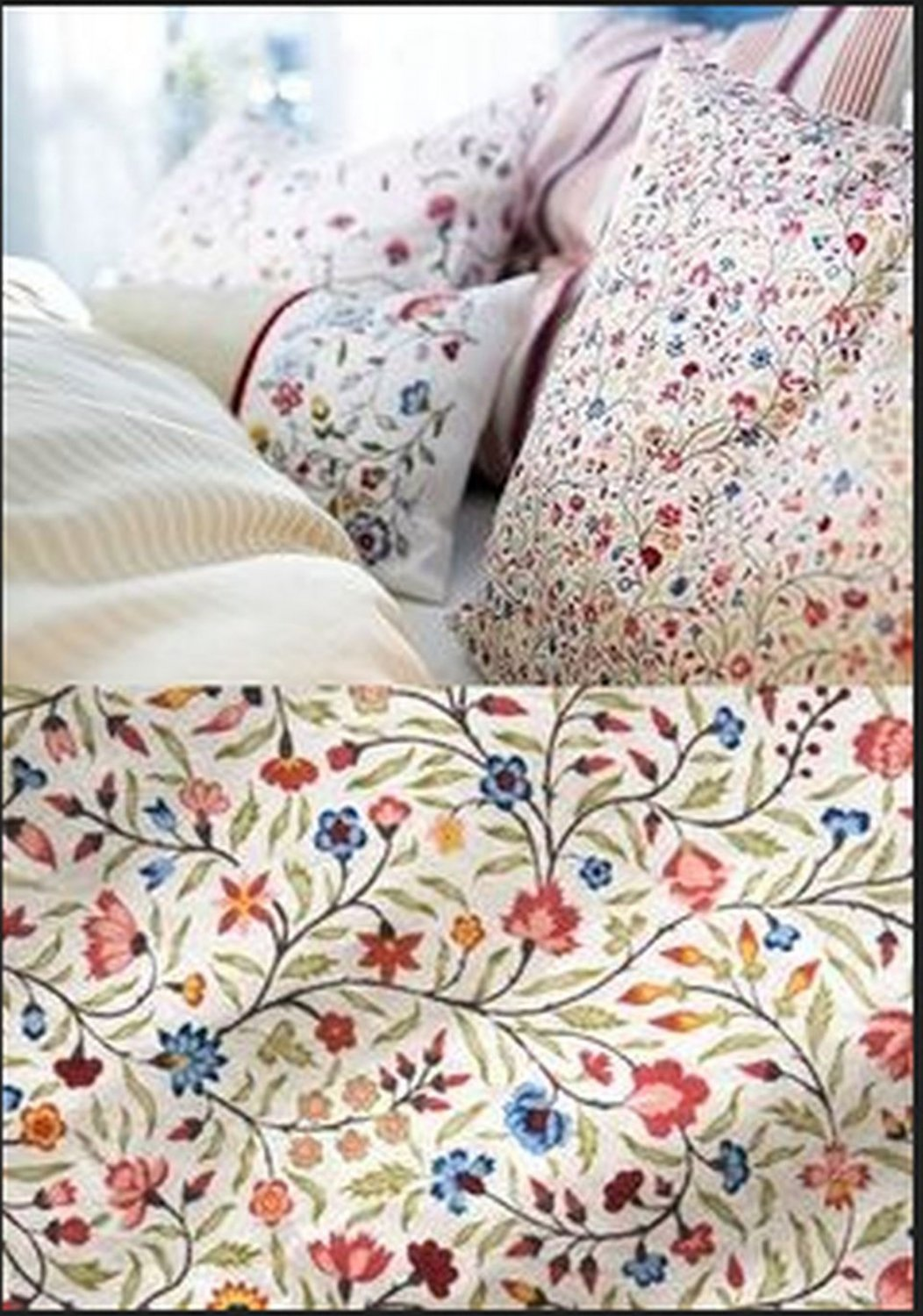 Ikea Alvine Ljuv Twin Duvet Cover Pillowcase Set Floral