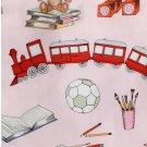 IKEA LEKRUM TWIN Single Duvet COVER Pillowcase Set Teddy Bear Books Soccer Trains Toys