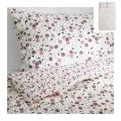 IKEA MAJVIVA QUEEN Full Duvet COVER Pillowcases Set WHITE LILAC Purple Floral Rose