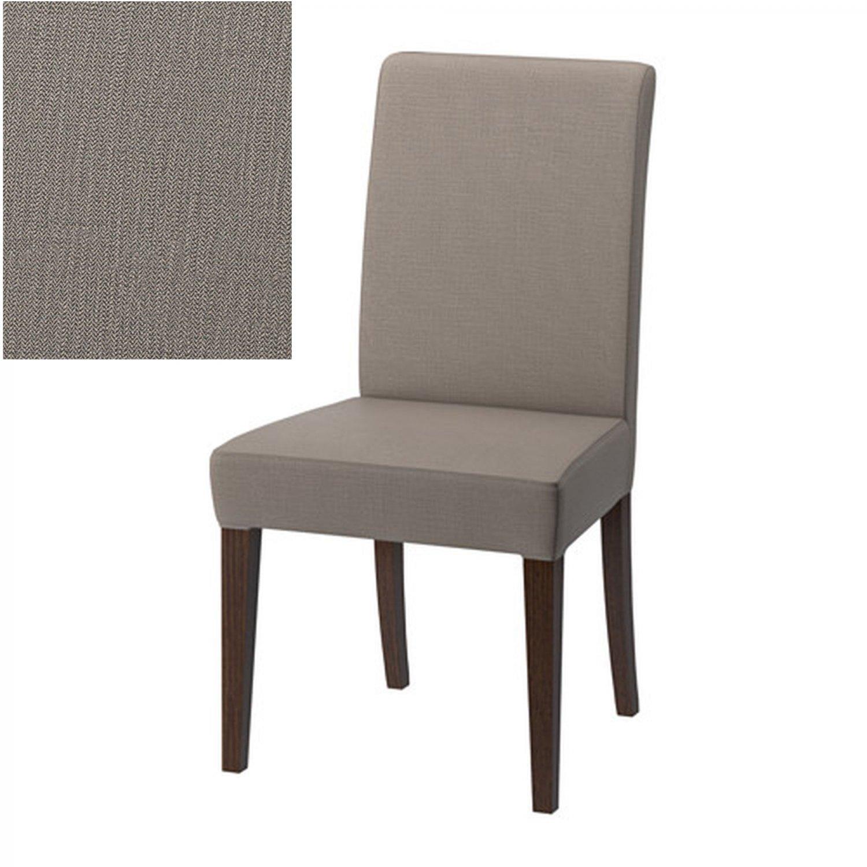 "IKEA HENRIKSDAL Chair SLIPCOVER Cover 21"" 54cm NOLHAGA GRAY BEIGE"