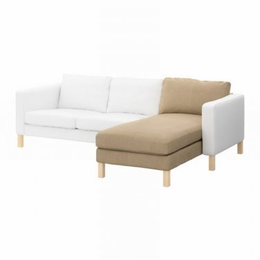 Ikea KARLSTAD Add-on Chaise Longue SLIPCOVER Cover LINDO BEIGE Lindö