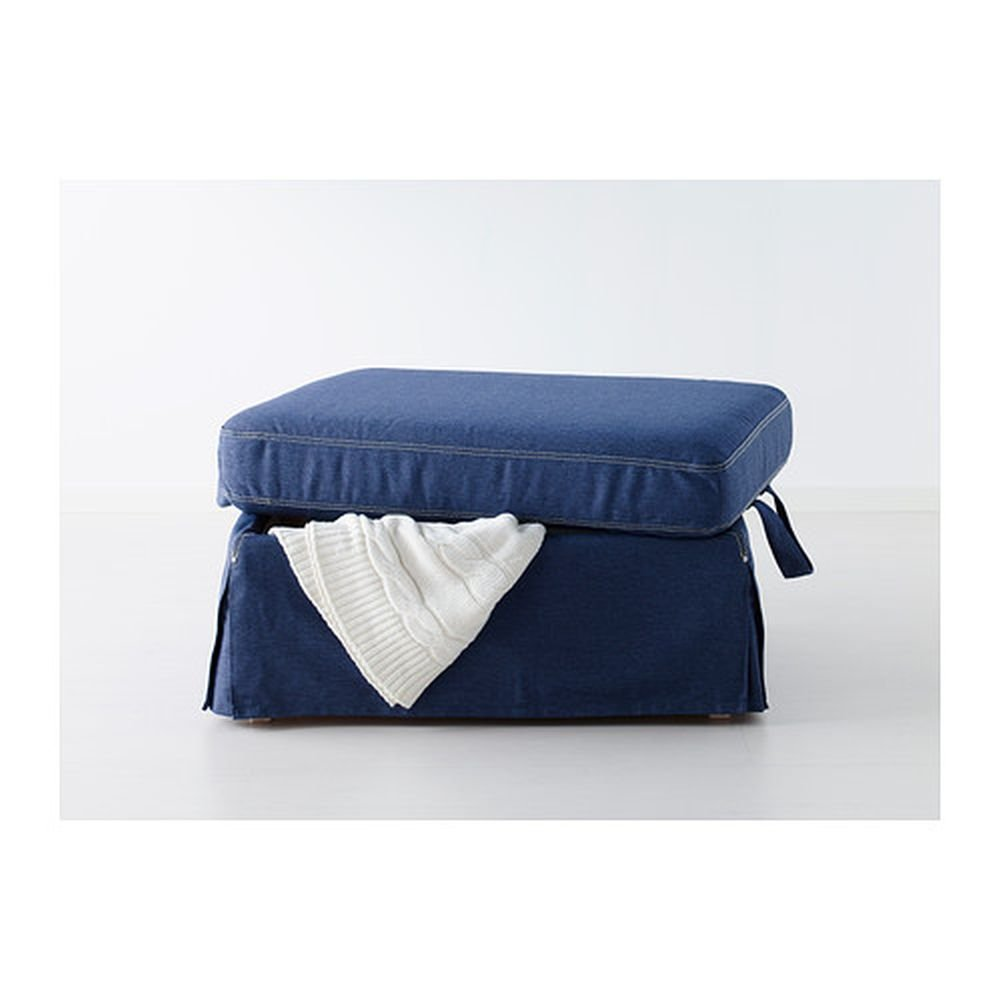 sc 1 st  rock-paper-scissors - eCRATER & IKEA EKTORP Footstool COVER Ottoman Slipcover JONSBODA BLUE islam-shia.org