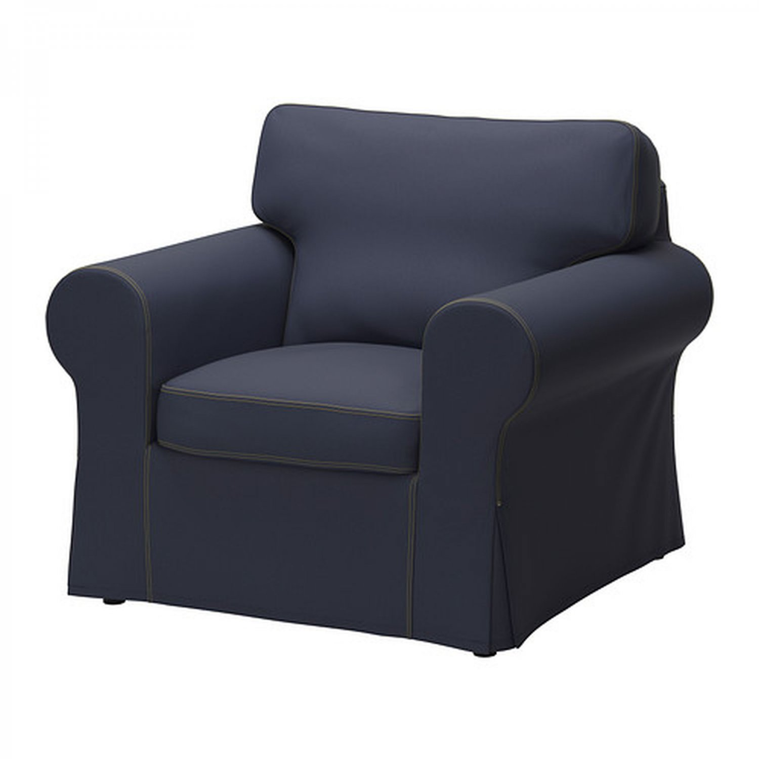 Ikea Ektorp Armchair Cover Chair Slipcover Jonsboda Blue Denim