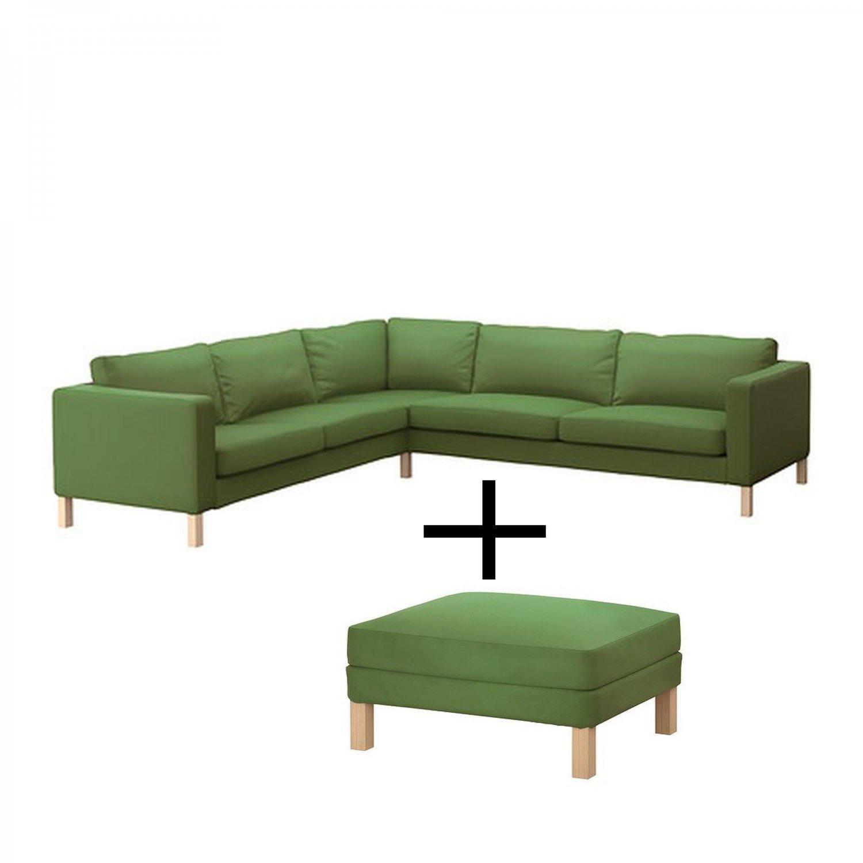 Covers For Ikea Karlstad Sofa: Ikea KARLSTAD Corner Sofa And Footstool SLIPCOVER Cover