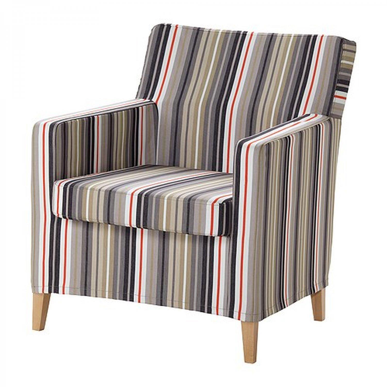 Ikea KARLSTAD Chair SLIPCOVER Armchair Cover DILLNE GRAY