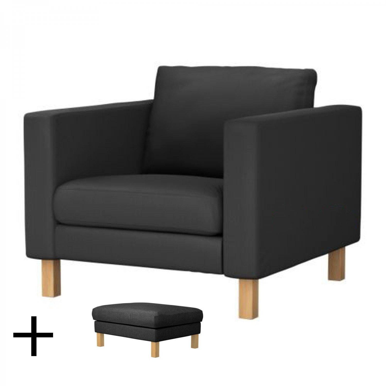Ikea Karlstad Armchair And Footstool Slipcover Chair