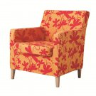 Ikea KARLSTAD Chair SLIPCOVER Armchair Cover BONDARP ORANGE Multi Floral