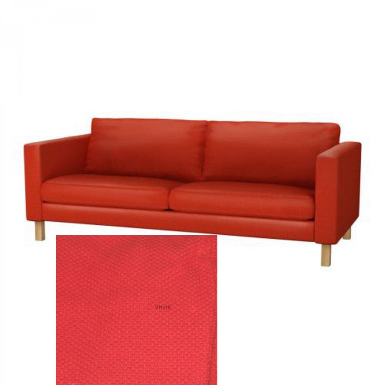 Ikea KARLSTAD 3 Seat Sofa SLIPCOVER Cover KORNDAL RED Xmas LAST ONE