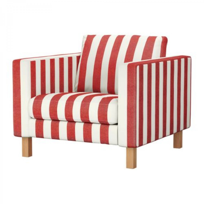 Ikea karlstad armchair slipcover chair cover rannebo red white stripes cabana