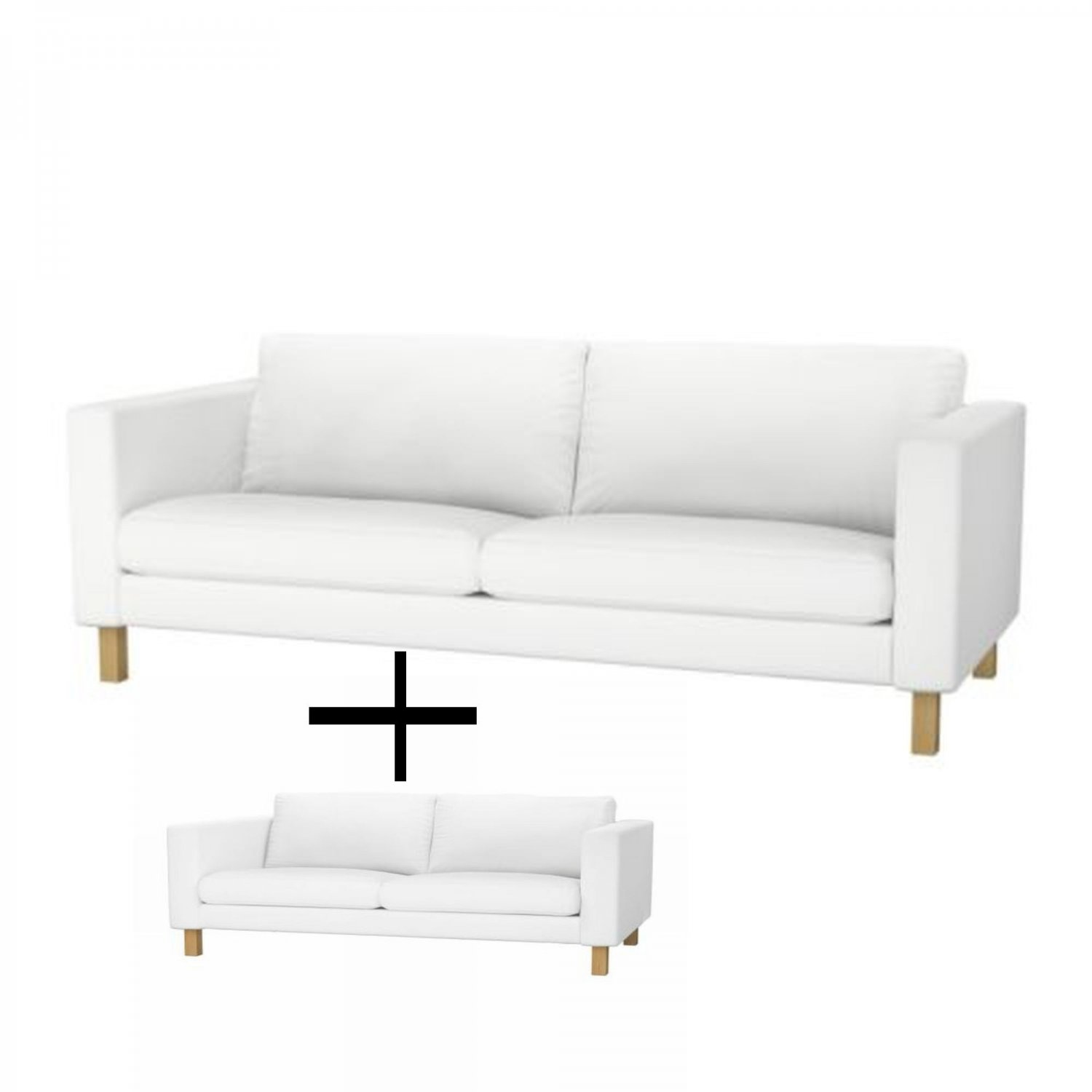 ikea karlstad 3 seat sofa and 2 seat lovseat slipcover. Black Bedroom Furniture Sets. Home Design Ideas