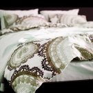 Ikea LYCKOAX BROWN Beige White DUVET COVER Set QUEEN Full Lace Brown Beige LAST ONE