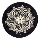 IKEA FLINGA Black White Area RUG Throw Mat MANDELA Round Snowflake Xmas