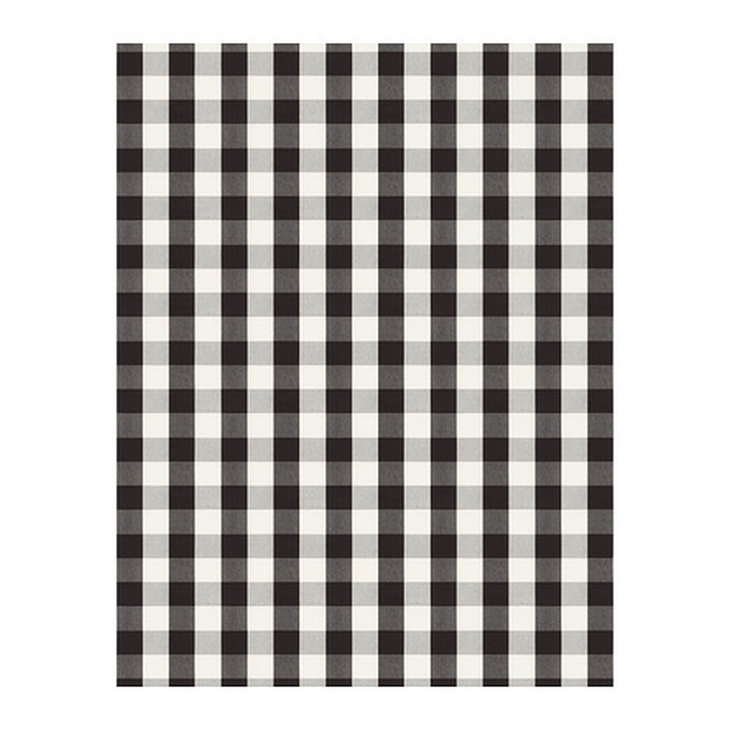 Ikea Berta Ruta Fabric Material Buffalo Check Black White 1 Yd Yarn Dyed Big Grid