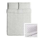 IKEA VINTER 2015 QUEEN Duvet COVER Pillowcases Set GRAY Double Full Nordic White Xmas