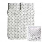 IKEA VINTER 2015 QUEEN Duvet COVER Pillowcases Set GRAY Double Full Nordic White Xmas