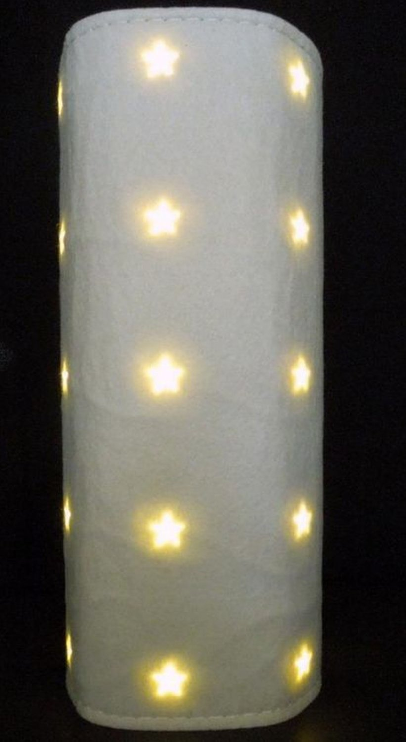 ikea kallt decoration cylinder light white xmas fabric gl nsa filt led panel glansa strala. Black Bedroom Furniture Sets. Home Design Ideas
