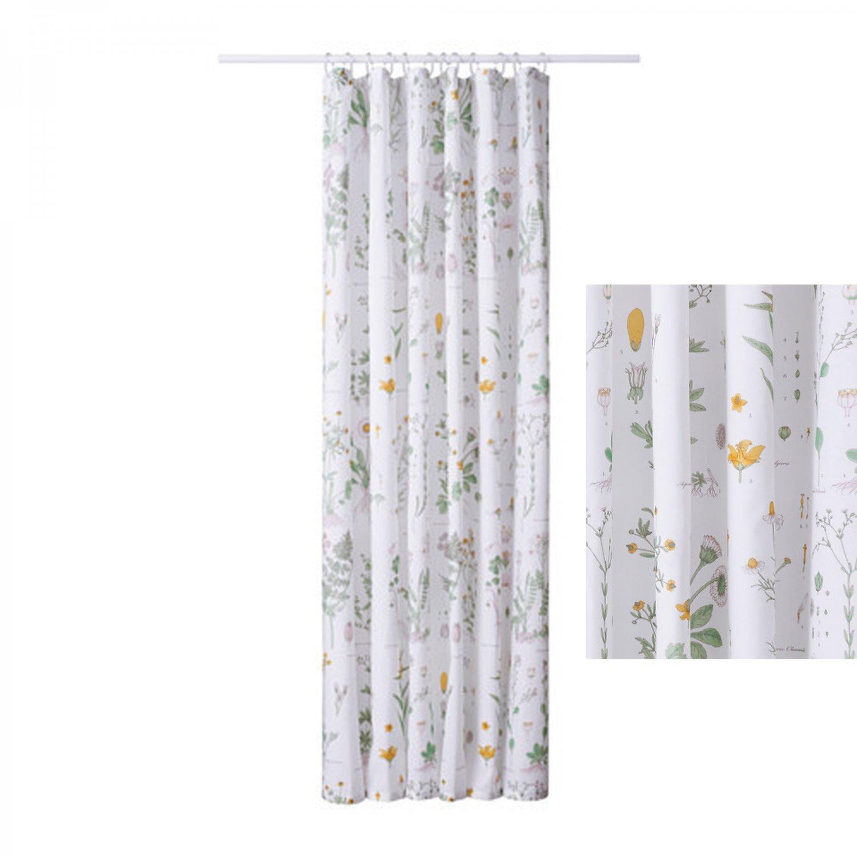 ikea strandkrypa fabric shower curtain botanical garden. Black Bedroom Furniture Sets. Home Design Ideas