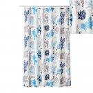 IKEA MIEAN Fabric SHOWER Curtain BLUE White Ocean Sea Undersea Design
