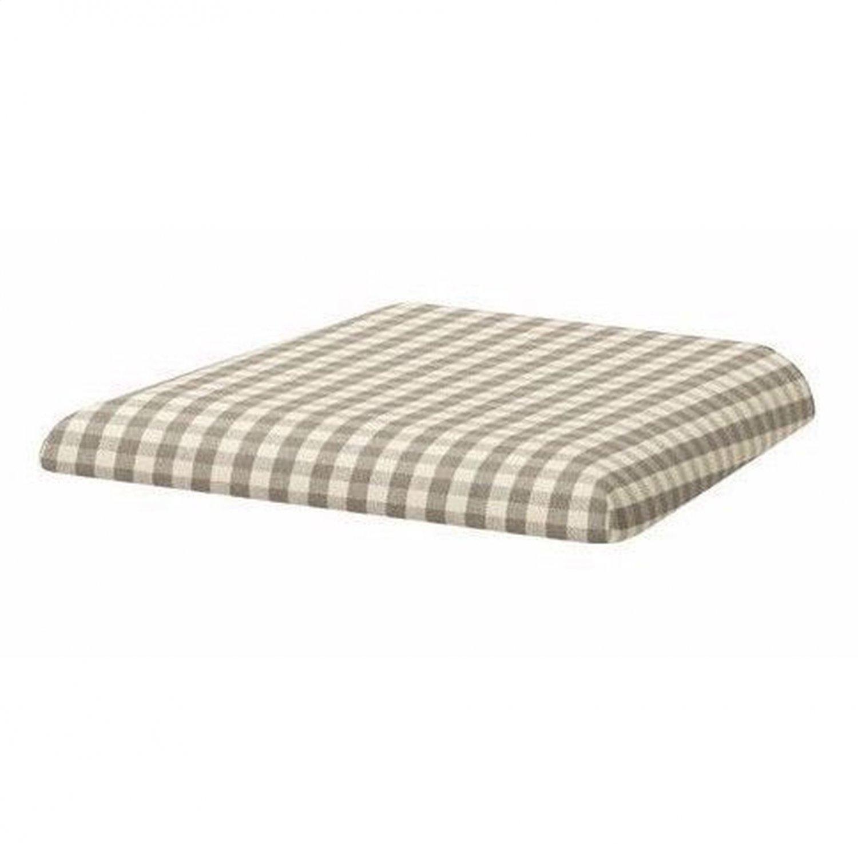 IKEA LERHAMN Dining Chair SLIPCOVER Cover SAGMYRA GRAY Gingham Check Grey S G
