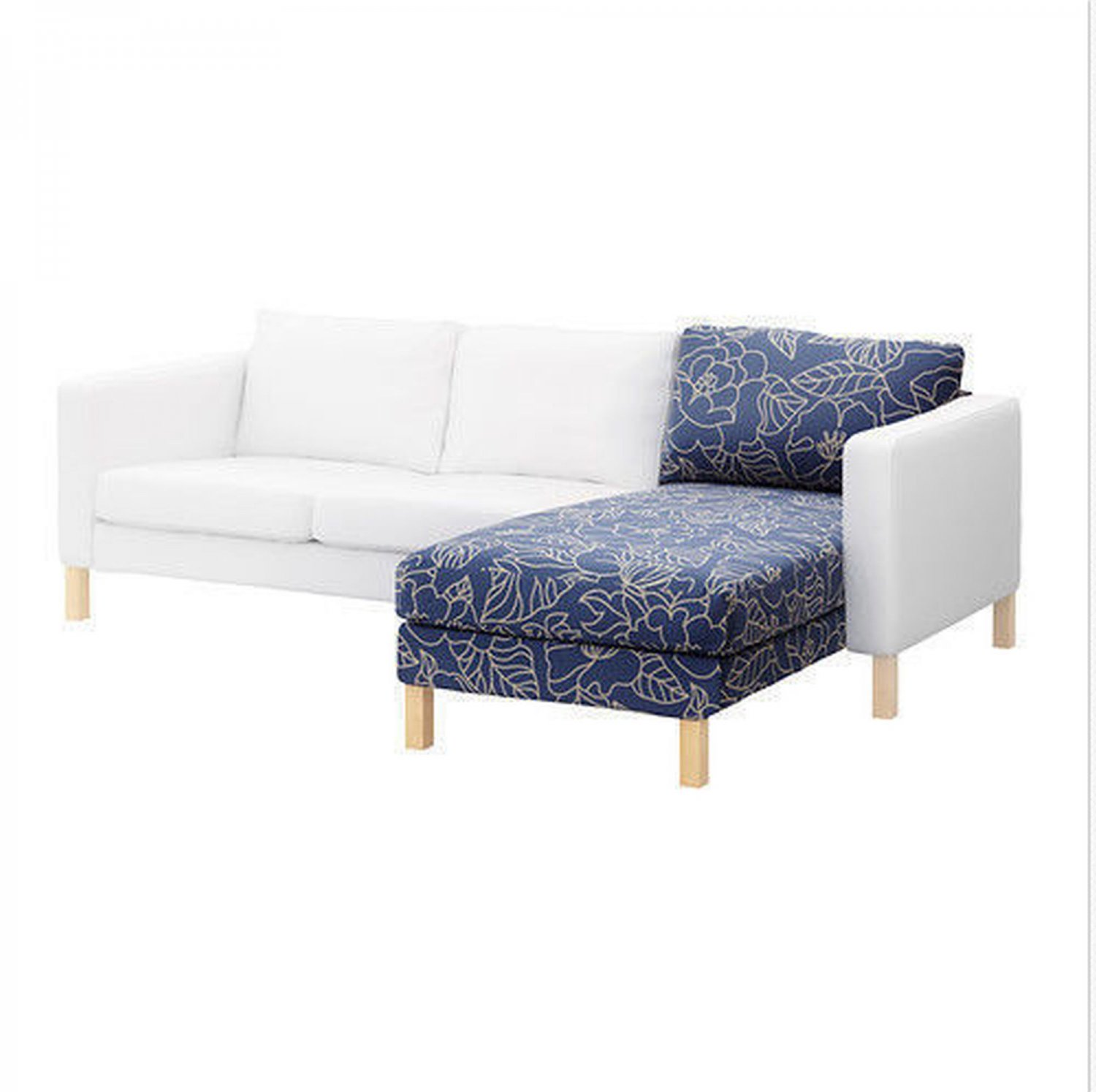 Ikea karlstad add on chaise longue slipcover cover for Chaise longue canada