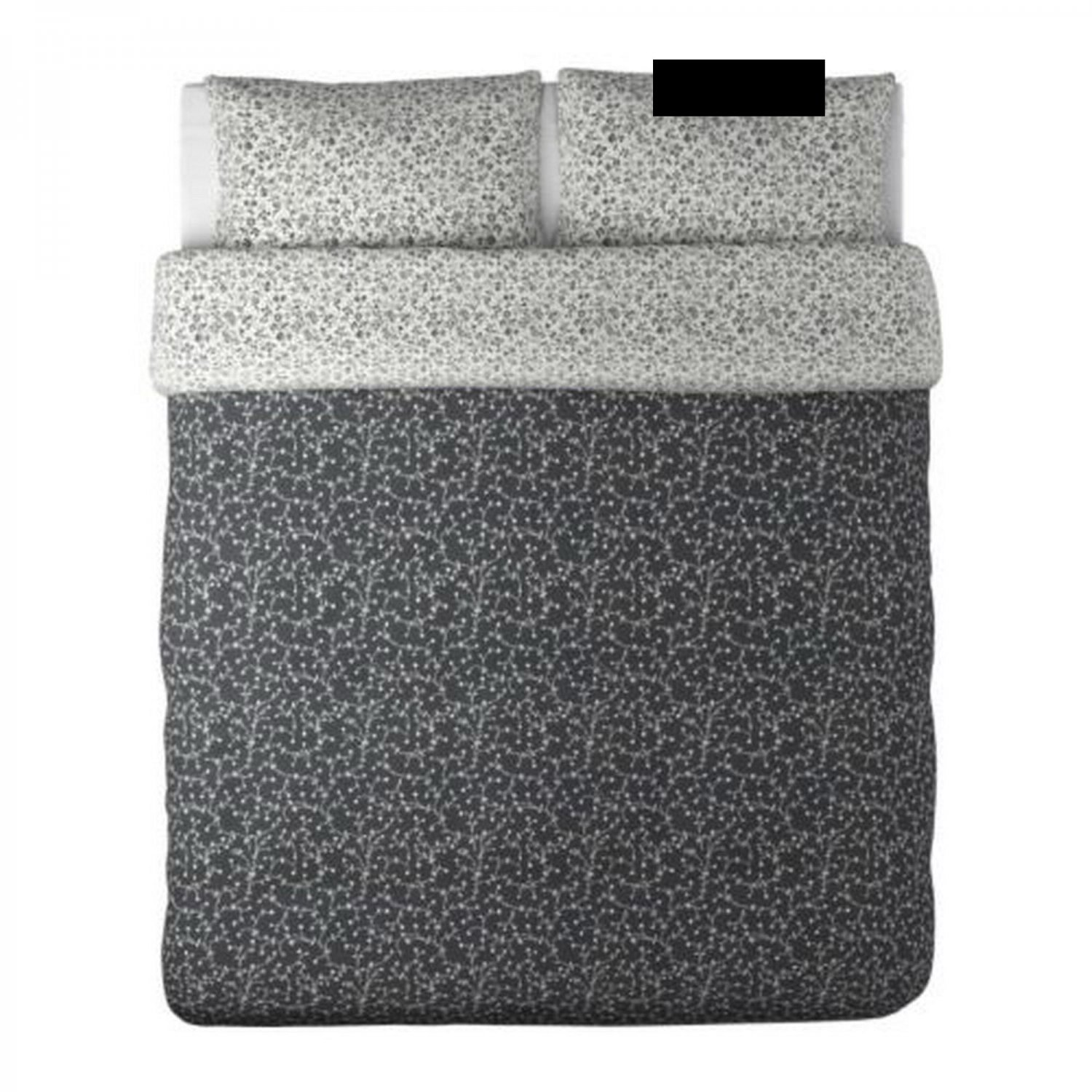 ikea alvine bar duvet cover pillowcases set king black white floral b r. Black Bedroom Furniture Sets. Home Design Ideas