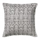 IKEA AKERKULLA Pillow COVER Sham Cushion Cvr GRAY Grey White Floral ÅKERKULLA