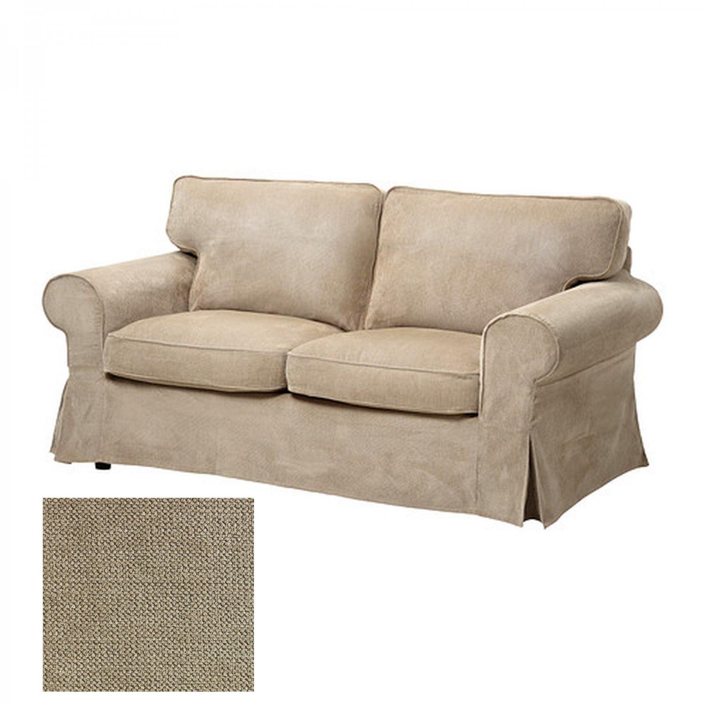 Ikea Ektorp 2 Seat Sofa Slipcover Loveseat Cover Vellinge Beige