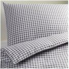IKEA VINTER 2014 QUEEN Full Duvet COVER Pillowcases Set GRAY CHECKED Gingham Double Full Xmas Grey