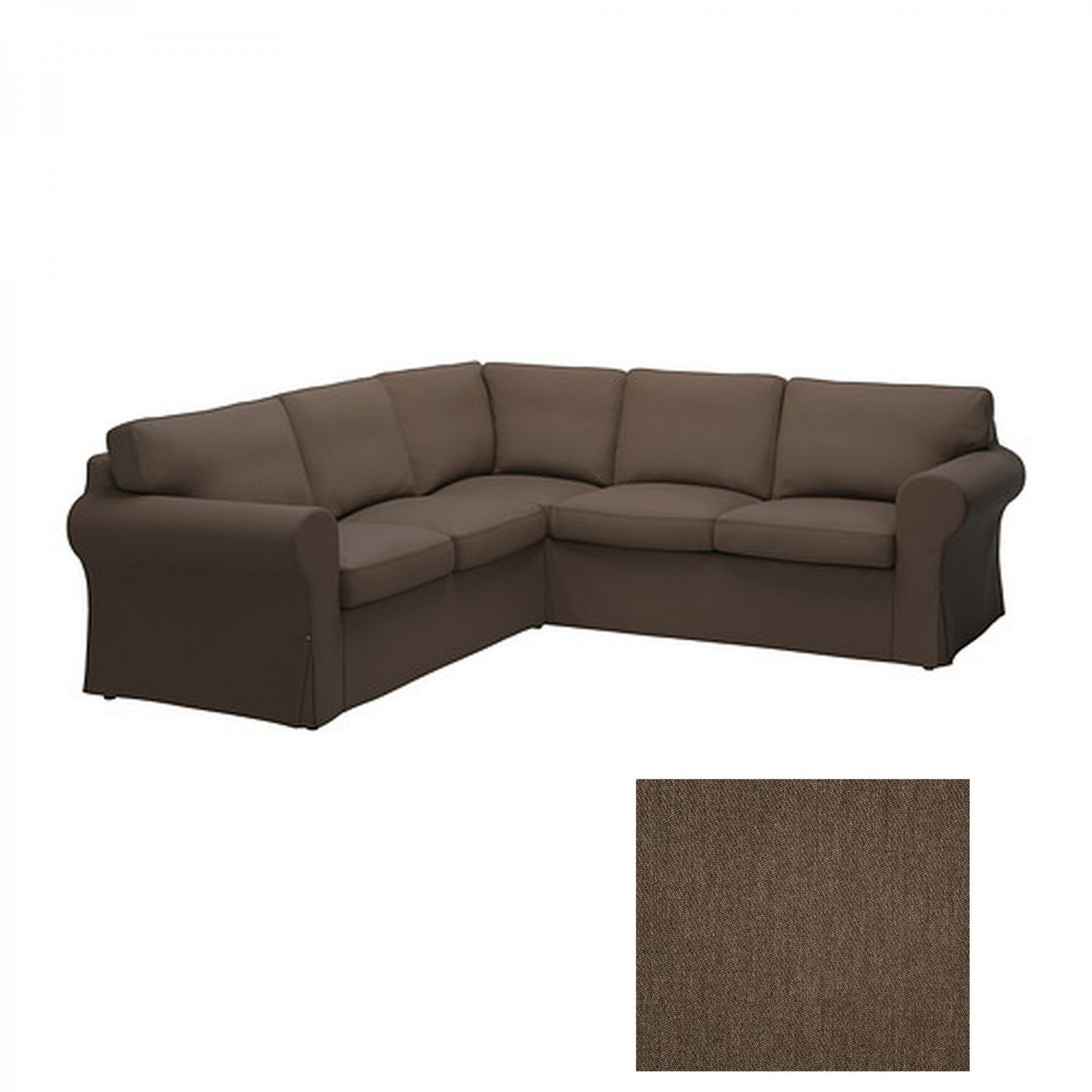 ikea ektorp 2 2 corner sofa cover slipcover jonsboda brown. Black Bedroom Furniture Sets. Home Design Ideas