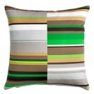IKEA STOCKHOLM Pillow COVER Sham Cushion Cvr MULTICOLOR Green STRIPES