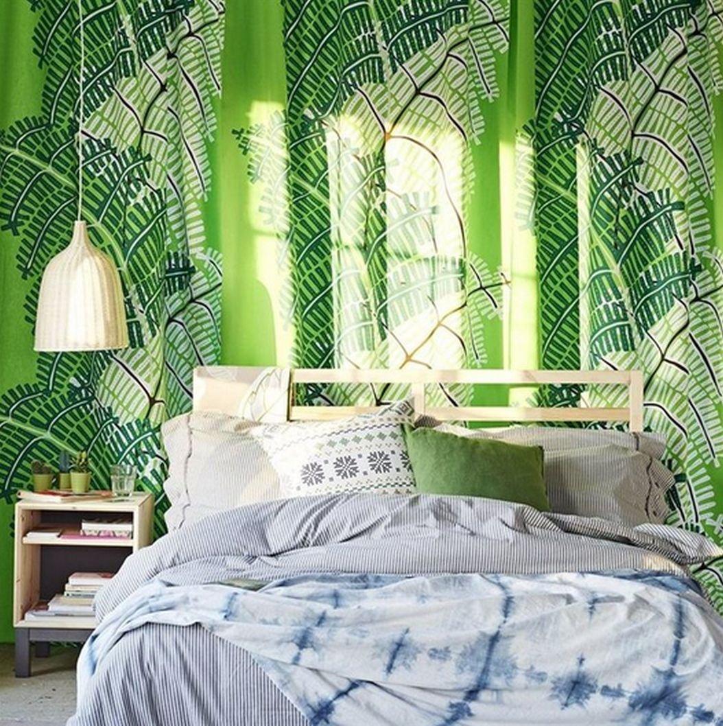 ikea stockholm fabric material 1 yd green white fern jungle print. Black Bedroom Furniture Sets. Home Design Ideas