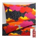 IKEA Tofsviva Twin Duvet COVER Pillowcase Set Orange Pink Black Multicolour Modern