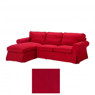 Ikea Ektorp Loveseat With Chaise Lounge Cover Slipcover Idemo Red