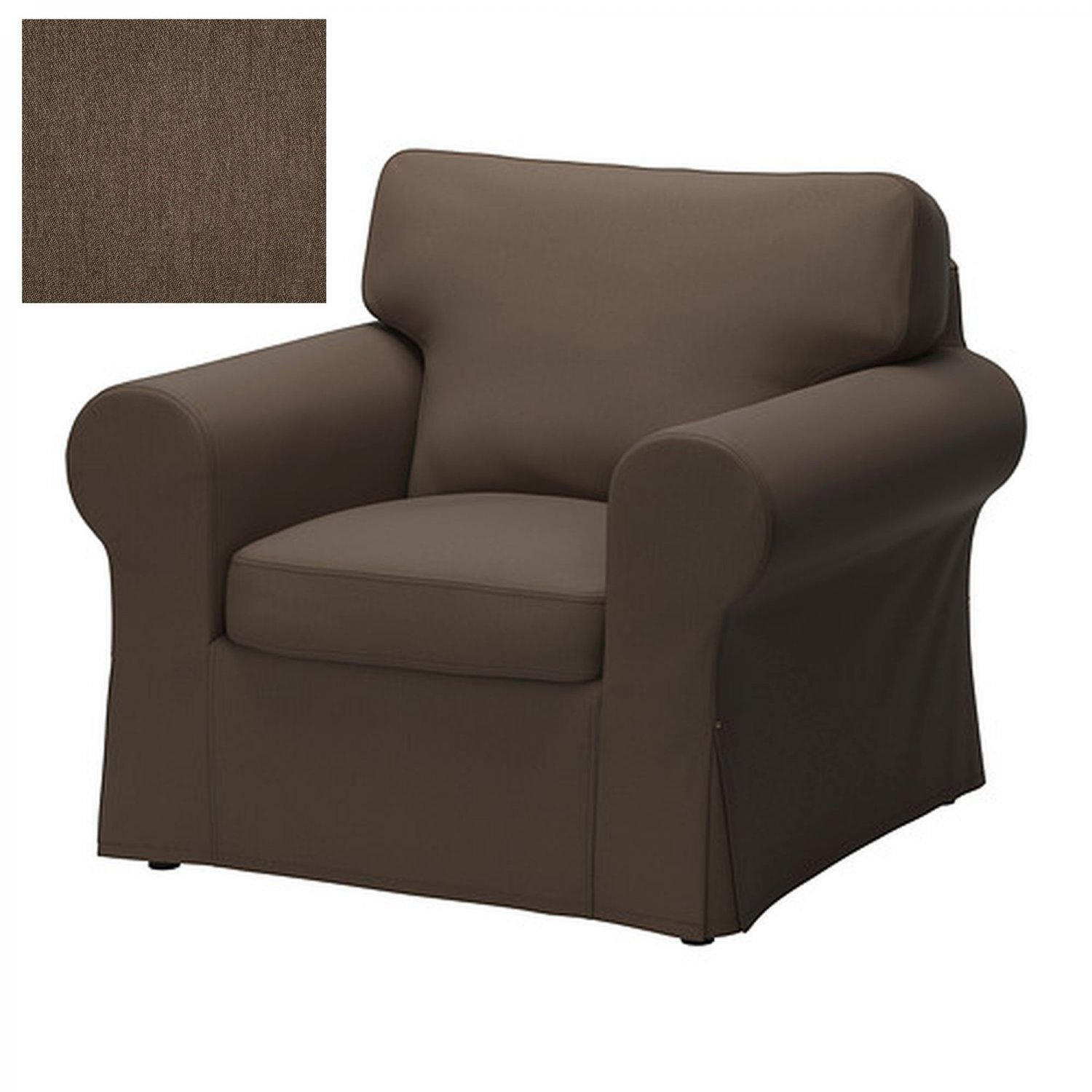 ikea ektorp armchair cover chair slipcover jonsboda brown. Black Bedroom Furniture Sets. Home Design Ideas