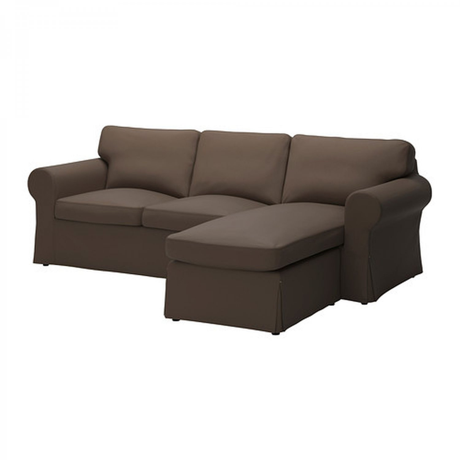 ikea ektorp loveseat with chaise slipcover 3 seat sectional cover jonsboda brown. Black Bedroom Furniture Sets. Home Design Ideas
