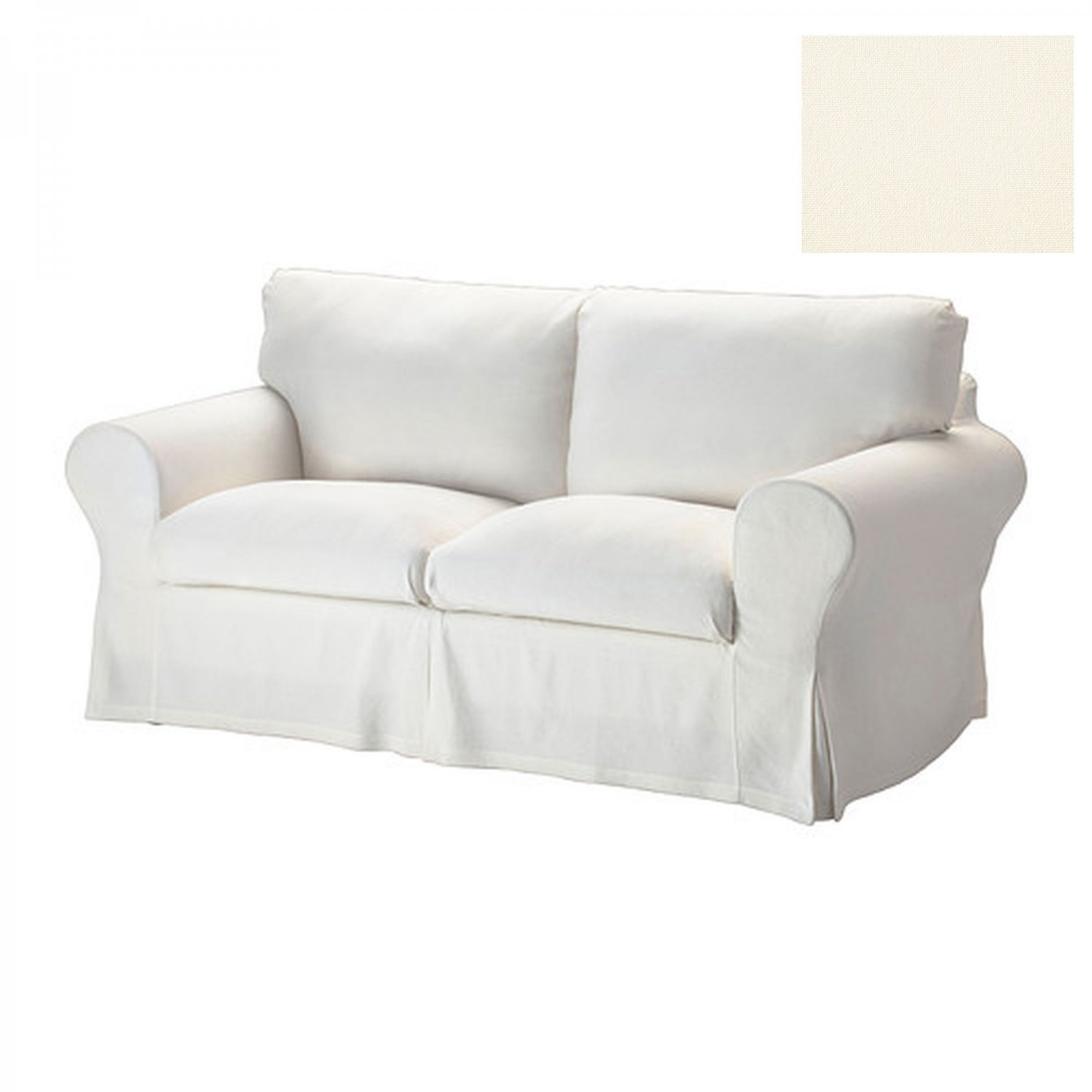 Ikea ektorp 2 seat sofa slipcover loveseat cover stenasa white off white sten sa linen blend White loveseat slipcovers