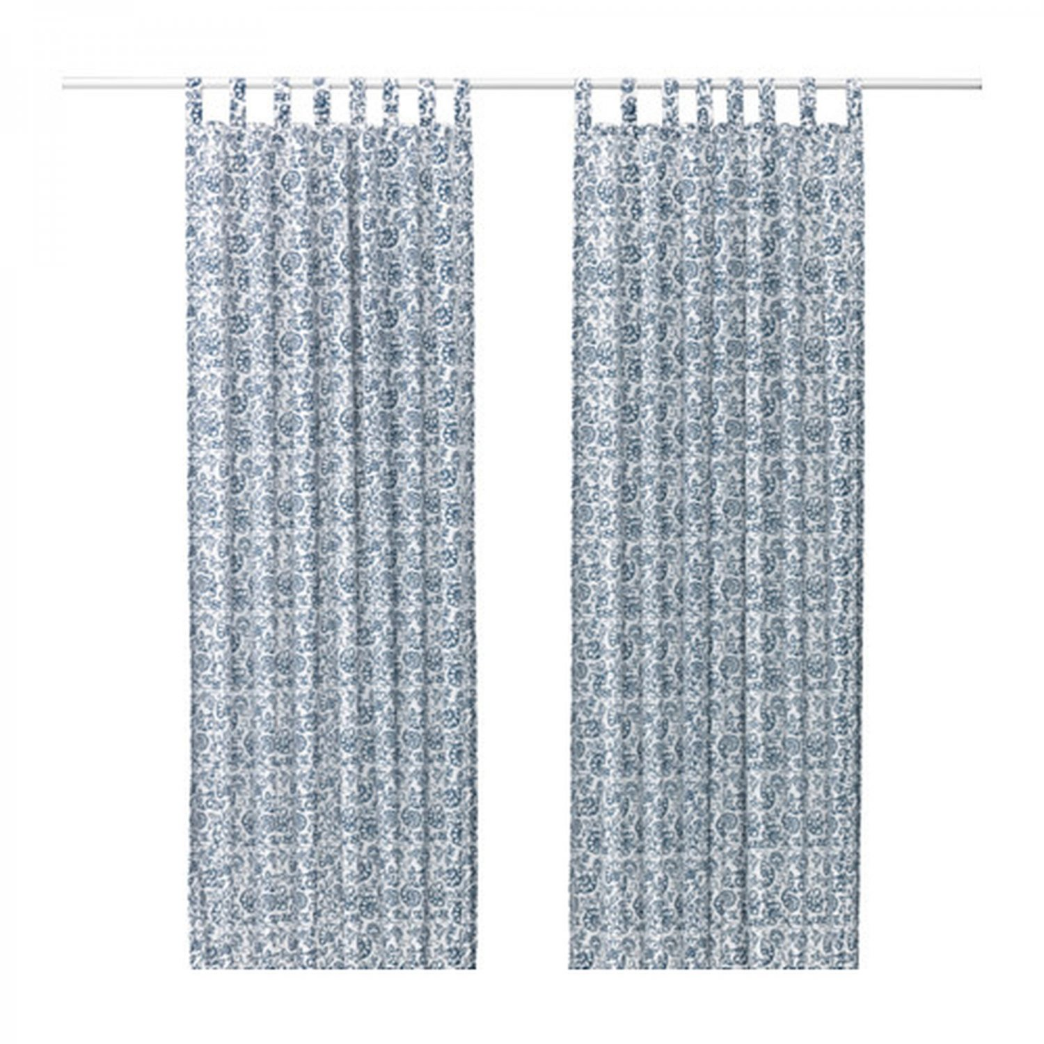 Ikea mjolkort curtains drapes blue white mj lk rt floral for White curtains ikea