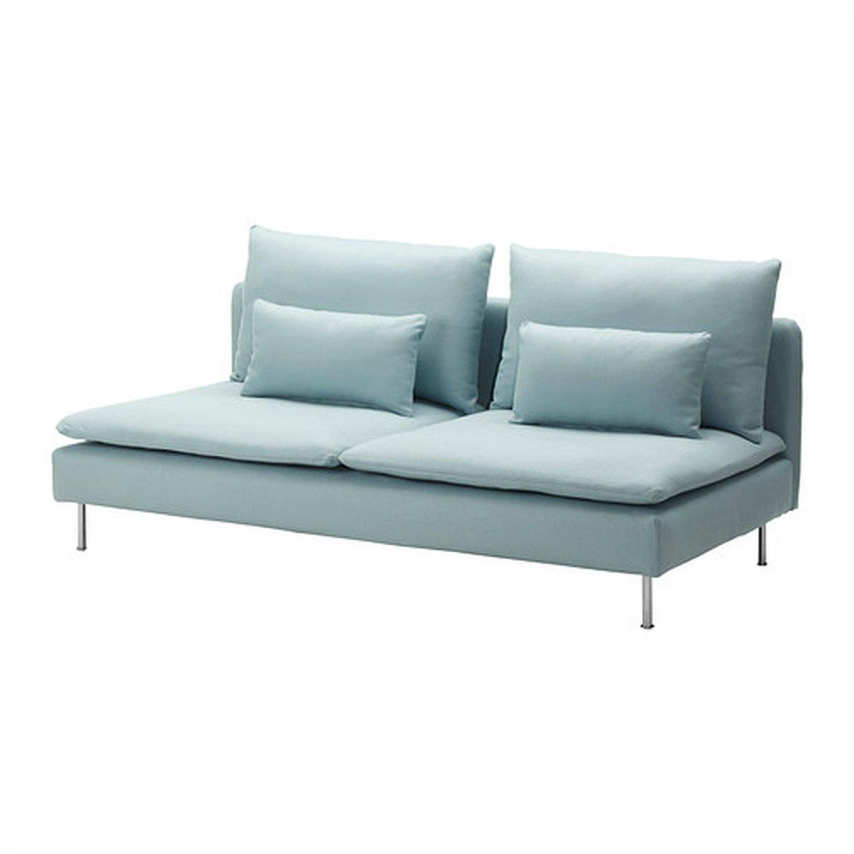 ikea soderhamn 3 seat sofa slipcover cover isefall light turquoise section. Black Bedroom Furniture Sets. Home Design Ideas