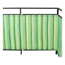IKEA DYNING Patio Balcony WIND Sun SHIELD SHADE GREEN and White STRIPED