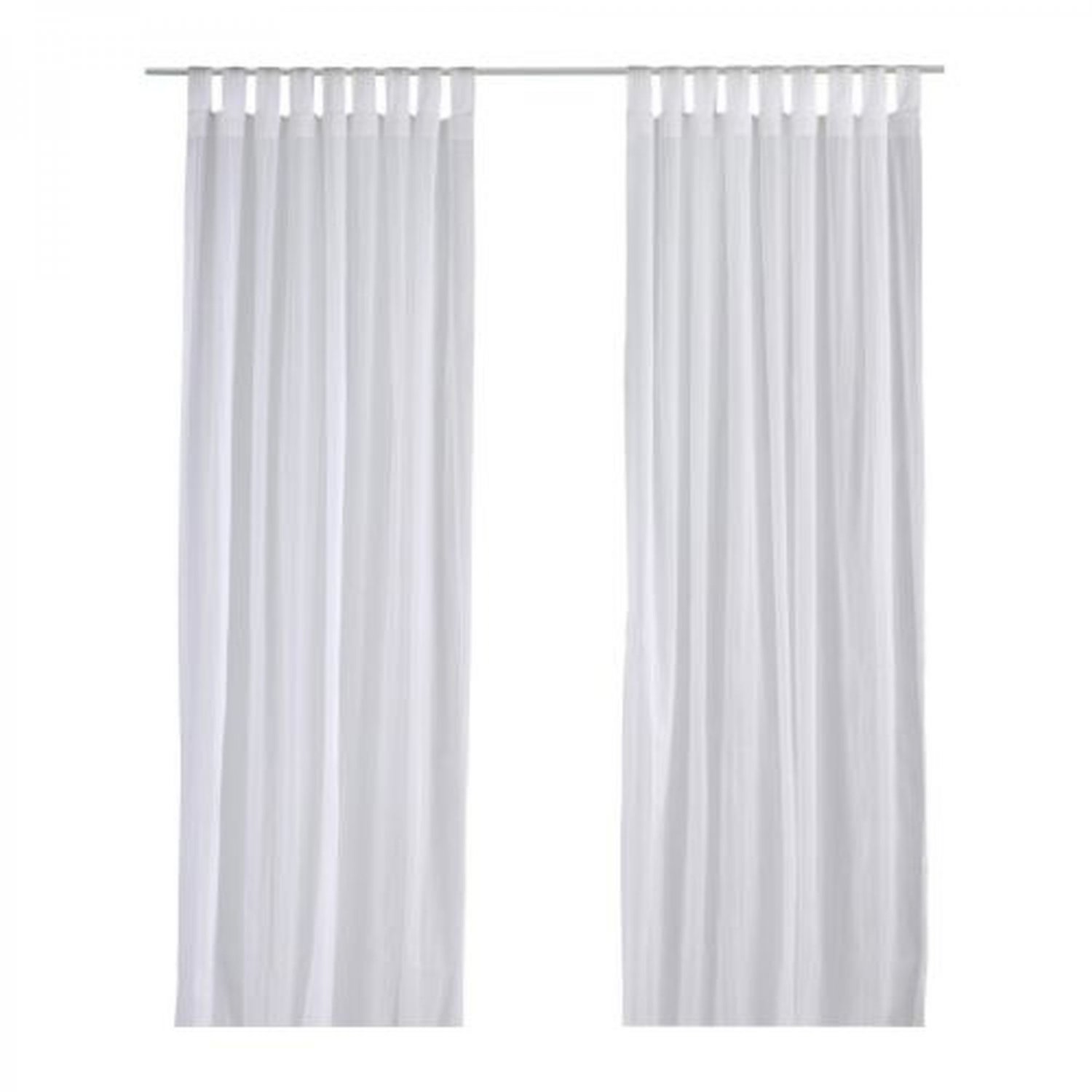 ikea matilda curtains drapes white on white dotted stripes 118 long. Black Bedroom Furniture Sets. Home Design Ideas