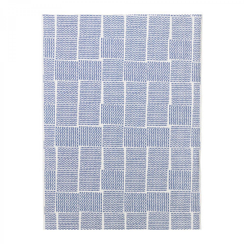 ikea sommar 2016 fabric material light blue white stripe 1 yd nautical wave stripe. Black Bedroom Furniture Sets. Home Design Ideas