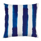 "IKEA SOMMAR 2016 Cushion COVER Pillow Sham  20"" x 20"" BLUE Stripe Indigo Summer"